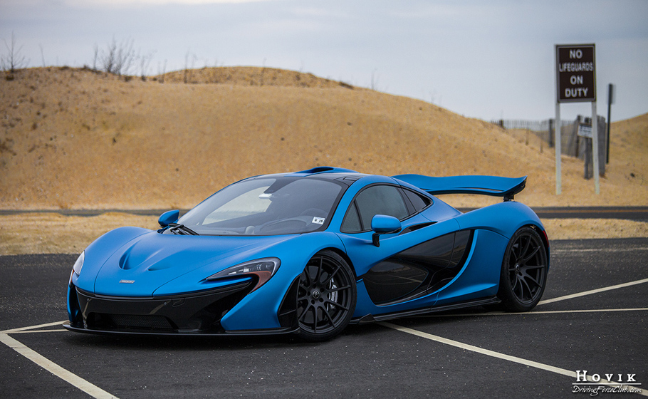 satin cerulean blue mclaren p1 – driving force club