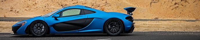 Satin Cerulean Blue McLaren P1